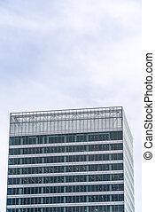 здание, экстерьер, современное, небо, против, дизайн, облачный, архитектурный, посмотреть