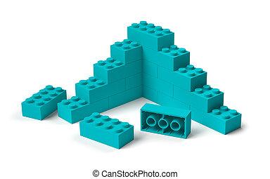 здание, 3d, игрушка, blocks, строительство, начало