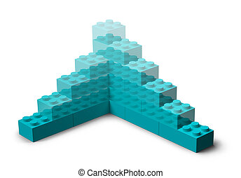 здание, 3d, проект, игрушка, blocks, поднимающийся