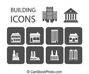 здание, icons