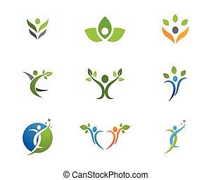здоровый, логотип, жизнь