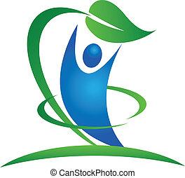 здоровый, логотип, природа