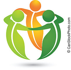 здоровый, логотип, программы, leafs, команда