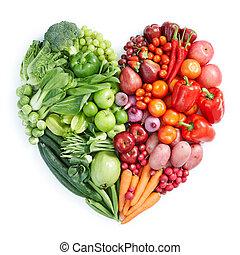 здоровый, питание, зеленый, красный