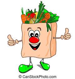 здоровый, принимать пищу