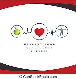 здоровый, сердце, символ