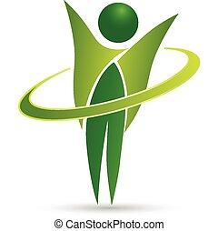 здоровый, web, жизнь, дизайн, логотип