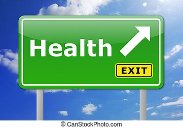 здоровье, дорога, знак