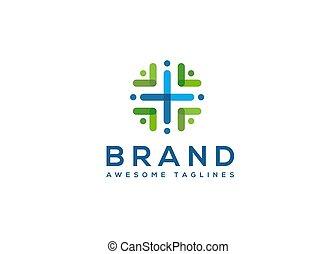 здоровье, сообщество, цвет, логотип, абстрактные