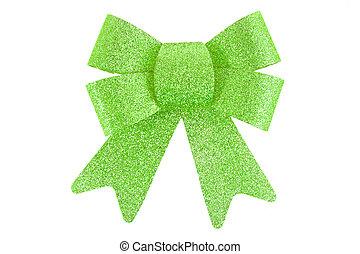 зеленый, белый, задний план, лук, isolated