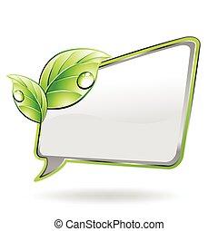 зеленый, вектор, баннер, leaf.