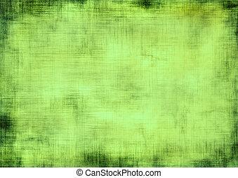 зеленый, гранж, задний план
