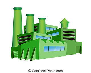 зеленый, завод