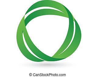 зеленый, здоровье, leafs, логотип
