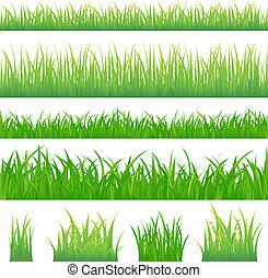 зеленый, трава, backgrounds, 4, tufts