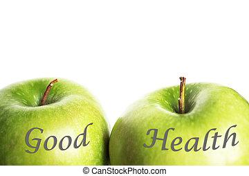 зеленый, хорошо, здоровье, apples
