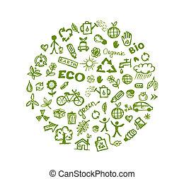 зеленый, экология, дизайн, ваш, задний план
