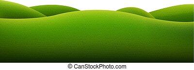 зеленый, isolated, пейзаж