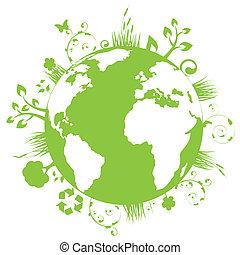 земля, зеленый