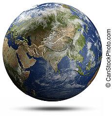 земля, земной шар, -, азия