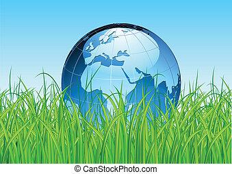 земля, земной шар, глянцевый, карта
