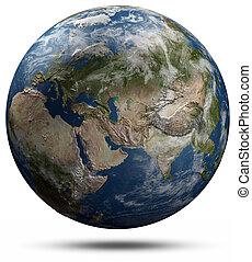 земля, земной шар, -, евразия