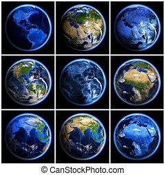 земля, земной шар, задавать