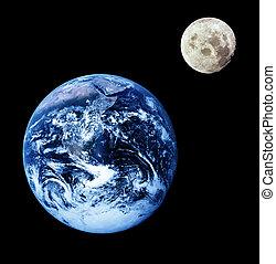 земля, луна