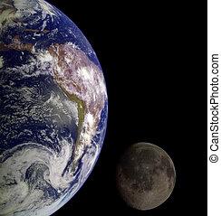 земля, &, луна
