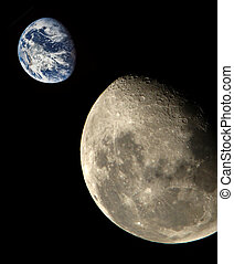 земля, луна, &