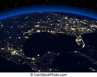 земля, ночь