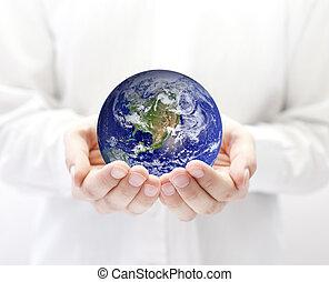 земля, руки