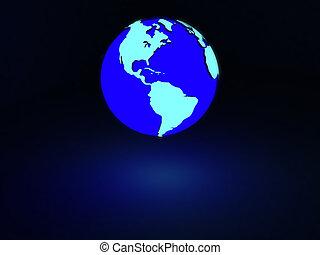земля, свечение, неон