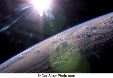 &, земля, солнечный лучик