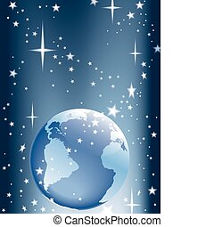 земля, число звезд: