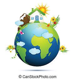 земля, чистый