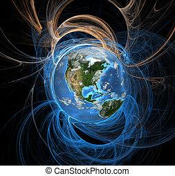 земля, энергия, поля, запад