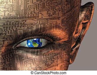 земля, android, глаз