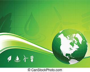 земной шар, задний план, nautre, зеленый