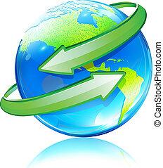 земной шар, карта, земля, глянцевый