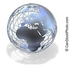 земной шар, металлический