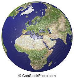 земной шар, plasticized