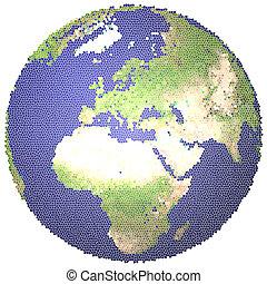 земной шар, vitrified
