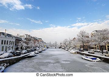 зима, нидерланды