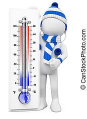 зима, people., days, белый, холодно, 3d