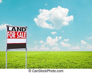 знак, земельные участки, пустой, продажа, зеленый, поле