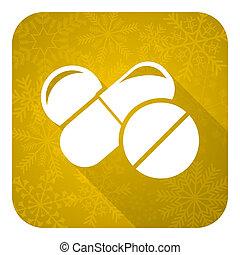 знак, золото, рождество, drugs, pills, квартира, кнопка, лекарственное средство, значок, символ