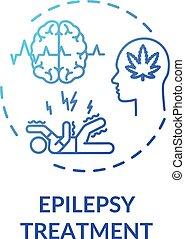 значок, концепция, эпилепсия, лечение