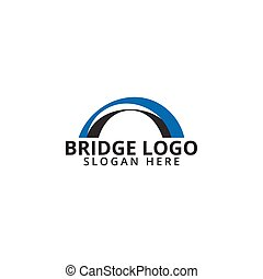 значок, логотип, мост, шаблон