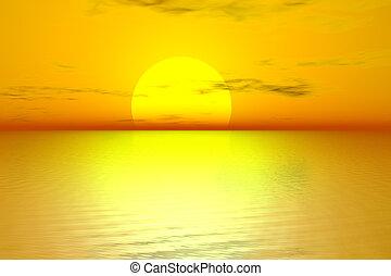 золотой, восход